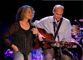 Carole King y James Taylor en la madurez