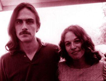 Carole King y James Taylor en la juventud